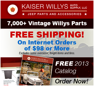 2013 Kaiser Willys Jeep Parts Catalog