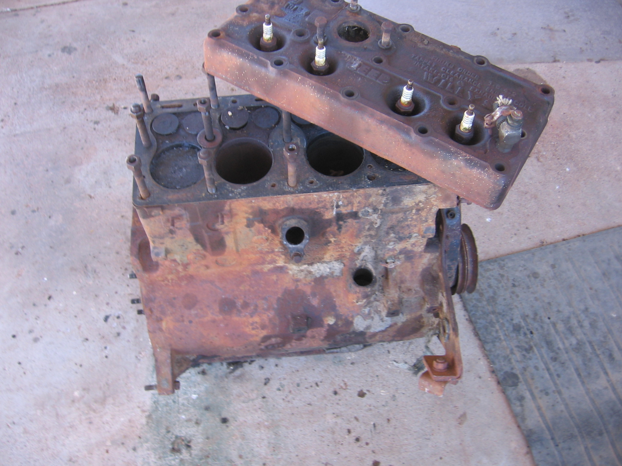 Willys Jeep Truck For Sale >> L134 Willys Jeep Engine Core