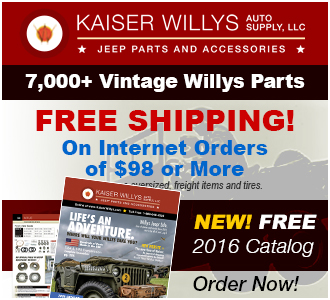 2016 Willys Jeep Parts Catalog
