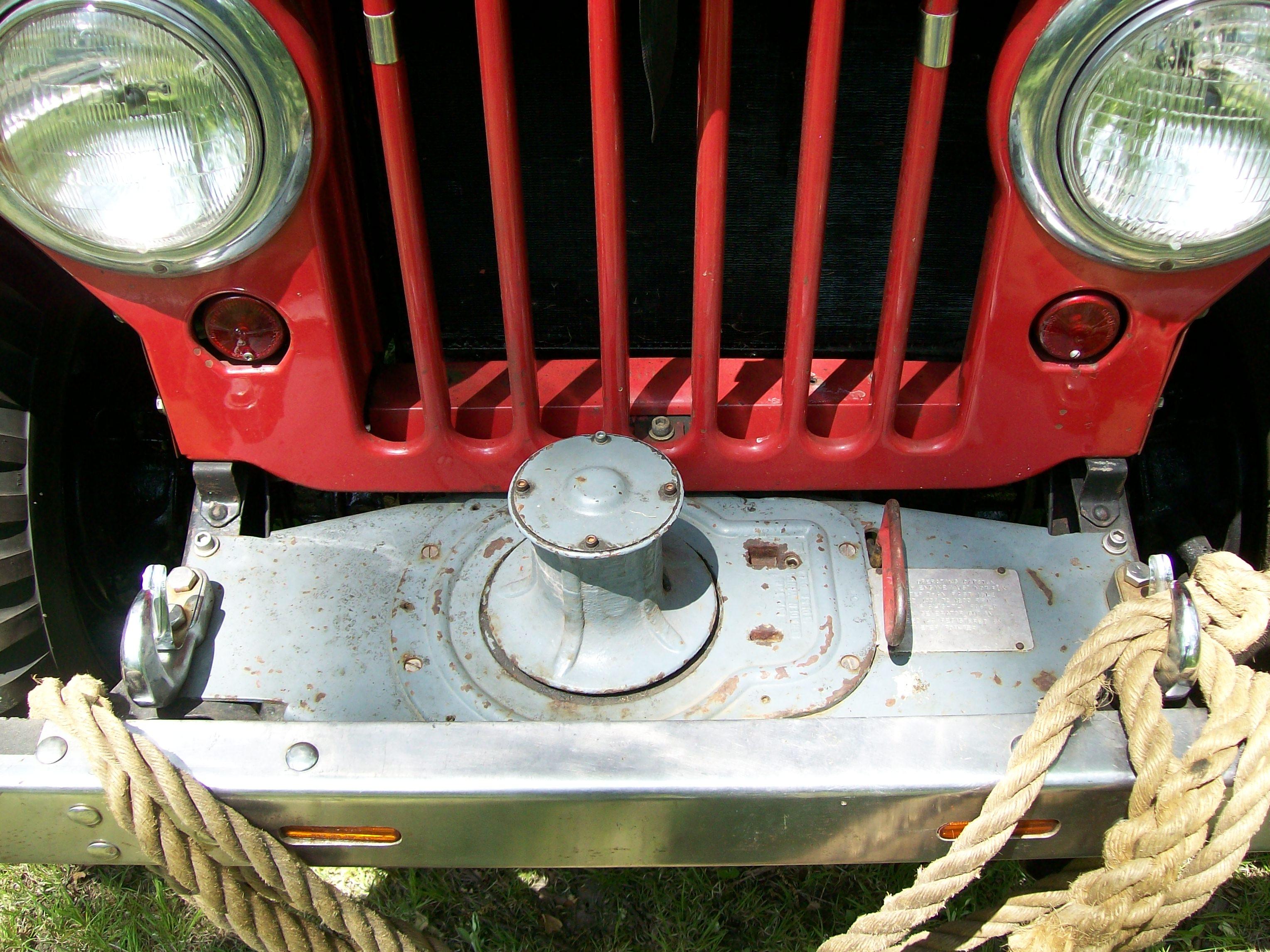 1946 Willys with Braden Capstan winch